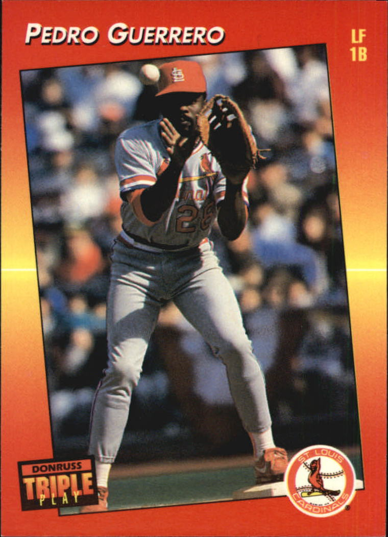 1992 Triple Play #9 Pedro Guerrero