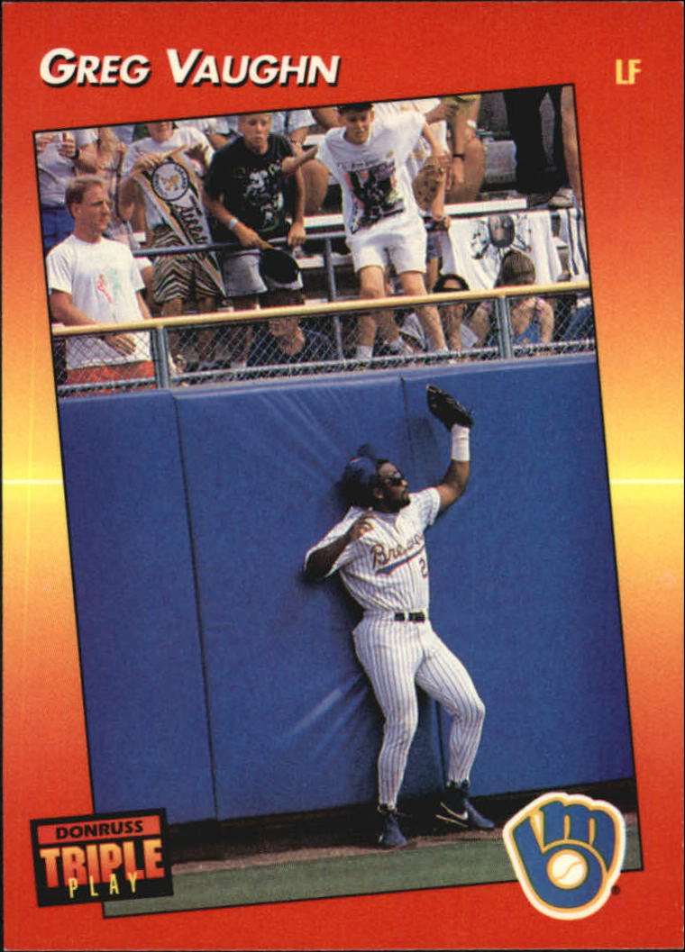 1992 Triple Play #122 Greg Vaughn