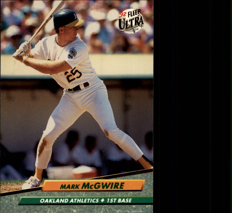 1992 Ultra #115 Mark McGwire