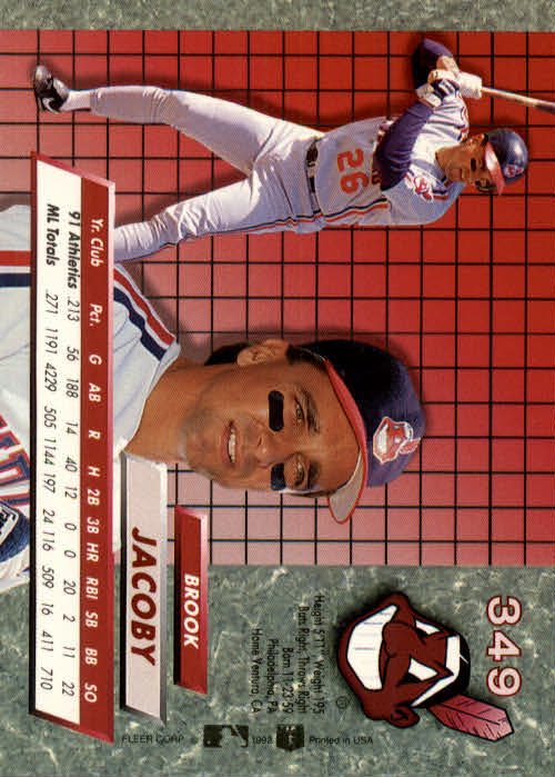 1992 Ultra #349 Brook Jacoby back image