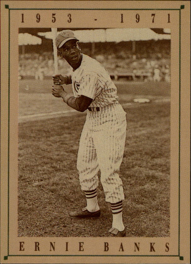 1992 Cubs Old Style #3 Ernie Banks