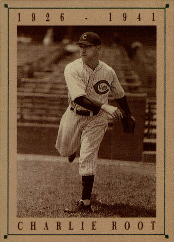 1992 Cubs Old Style #20 Charlie Root