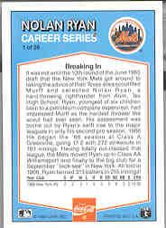 1992 Donruss Coke Ryan #1 Nolan Ryan/1966 NYM back image