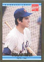 1992 Donruss Coke Ryan #1 Nolan Ryan/1966 NYM
