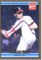 1992 Donruss Coke Ryan #10 Nolan Ryan/1976 CA