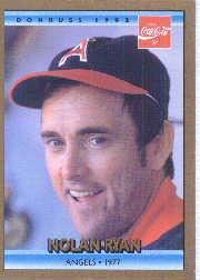 1992 Donruss Coke Ryan #11 Nolan Ryan/1977 CA front image