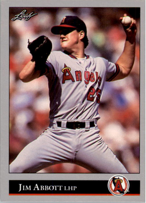 1992 Leaf #1 Jim Abbott