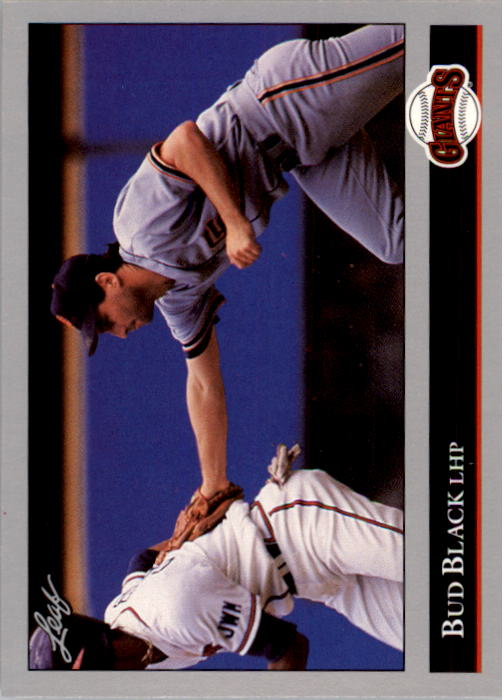 1992 Leaf #3 Bud Black