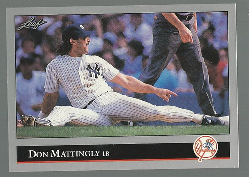 1992 Leaf #57 Don Mattingly front image