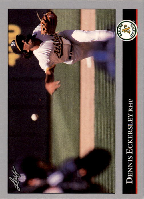 1992 Leaf #100 Dennis Eckersley