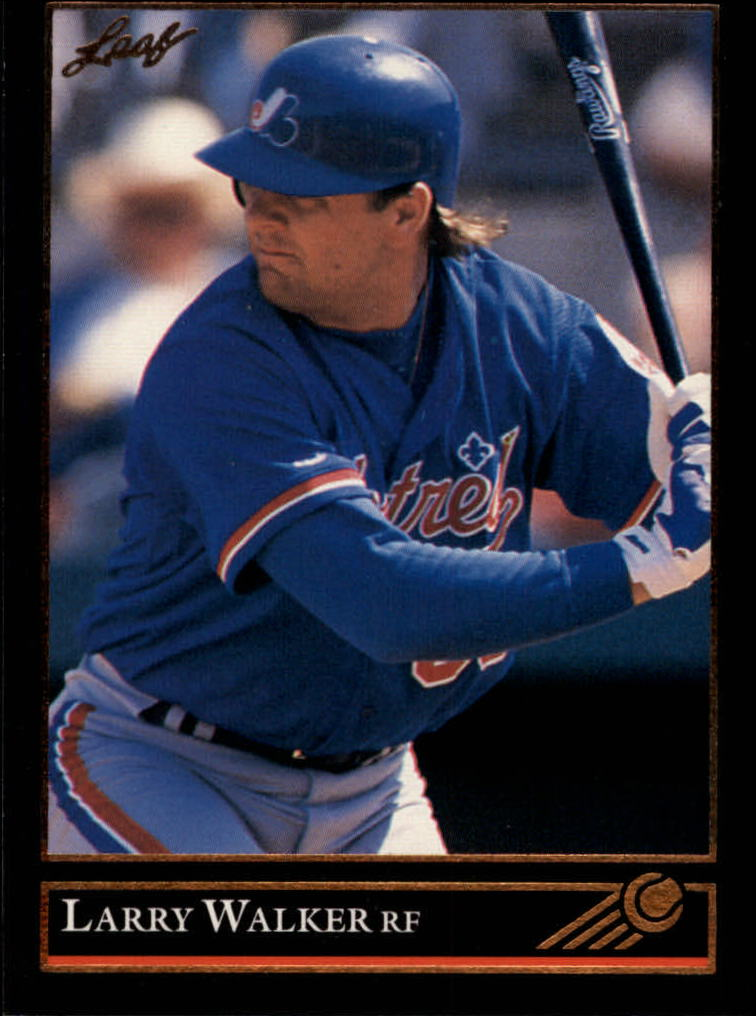1992 Leaf #201 Larry Walker