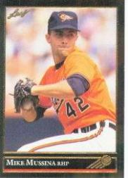 1992 Leaf Black Gold #13 Mike Mussina