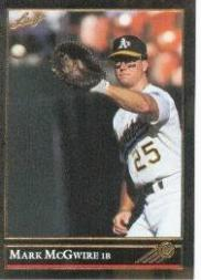 1992 Leaf Black Gold #16 Mark McGwire