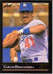1992 Leaf Black Gold #54 Carlos Hernandez