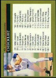 1992 Leaf Black Gold #133 Checklist 89-176/Nolan Ryan