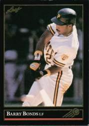 1992 Leaf Black Gold #275 Barry Bonds