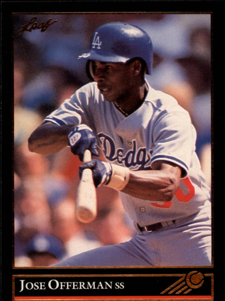 1992 Leaf Black Gold #322 Jose Offerman