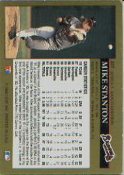 1992 Leaf Black Gold #377 Mike Stanton back image