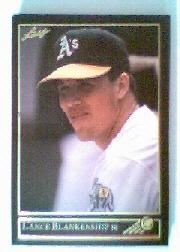 1992 Leaf Black Gold #410 Lance Blankenship