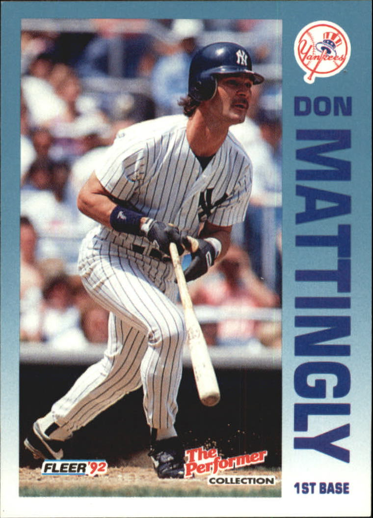 1992 Fleer Citgo The Performer #16 Don Mattingly