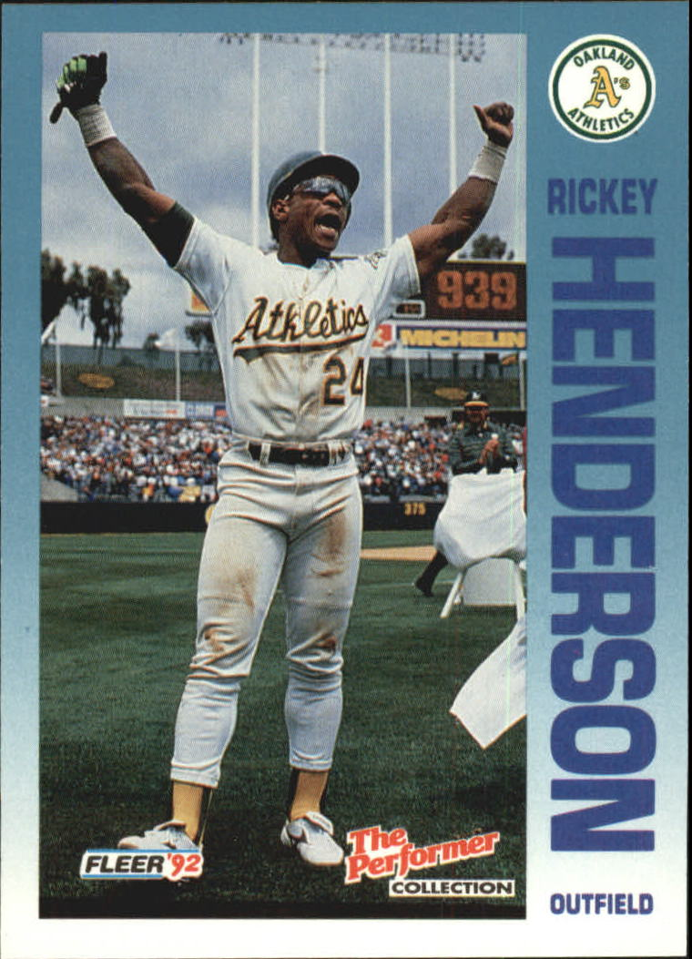 1992 Fleer Citgo The Performer #17 Rickey Henderson