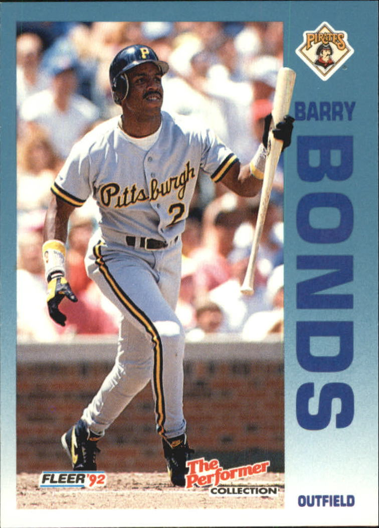 1992 Fleer Citgo The Performer #23 Barry Bonds