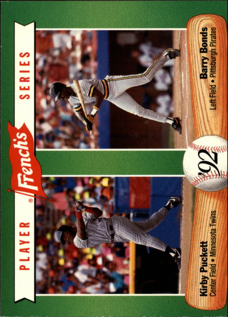 1992 French's #7 Kirby Puckett/Barry Bonds