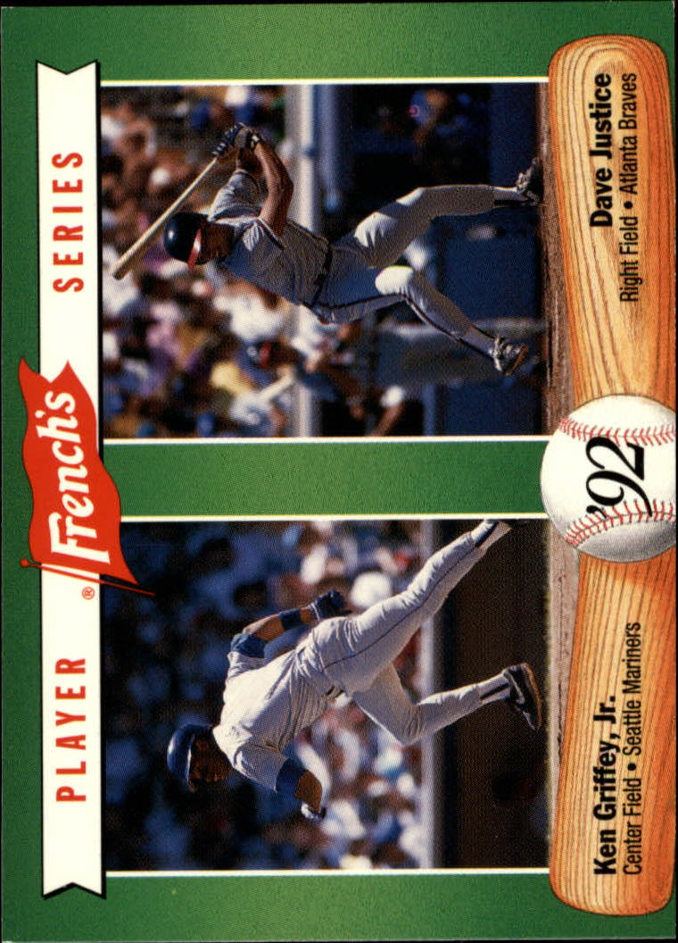 1992 French's #15 Ken Griffey Jr./Dave Justice