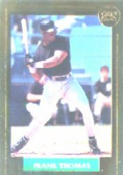 1992 Front Row Thomas Gold #1 Frank Thomas/Auburn Career Stats