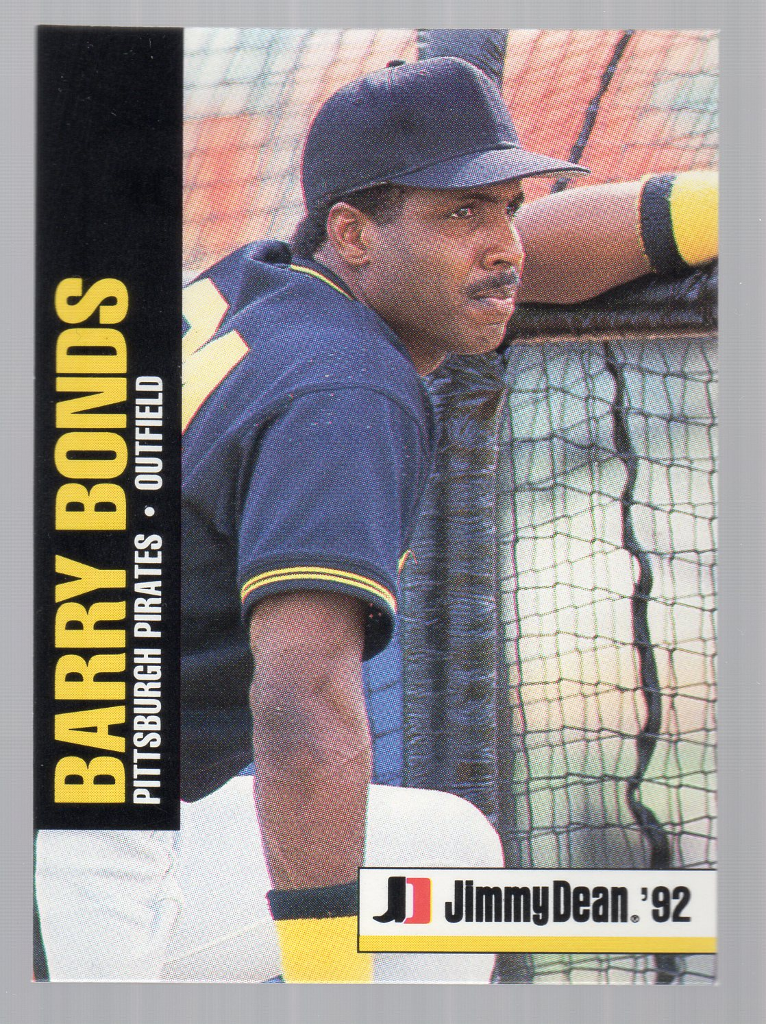1992 Jimmy Dean #2 Barry Bonds