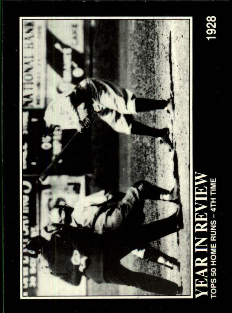 1992 Megacards Ruth #20 Tops 50 Home Runs-4th/Time 1928