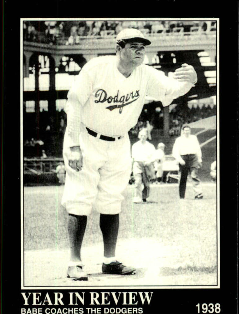 1992 Megacards Ruth #28 Babe Coaches the/Dodgers 1938