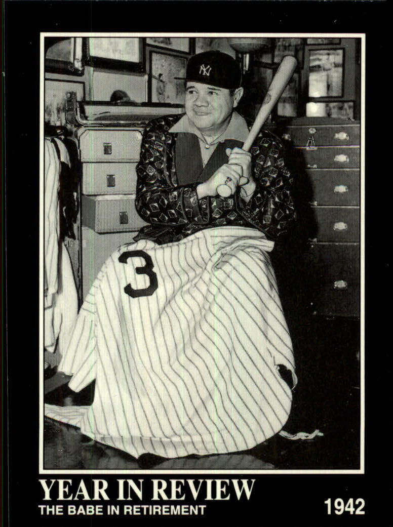 1992 Megacards Ruth #29 The Babe in/Retirement 1942