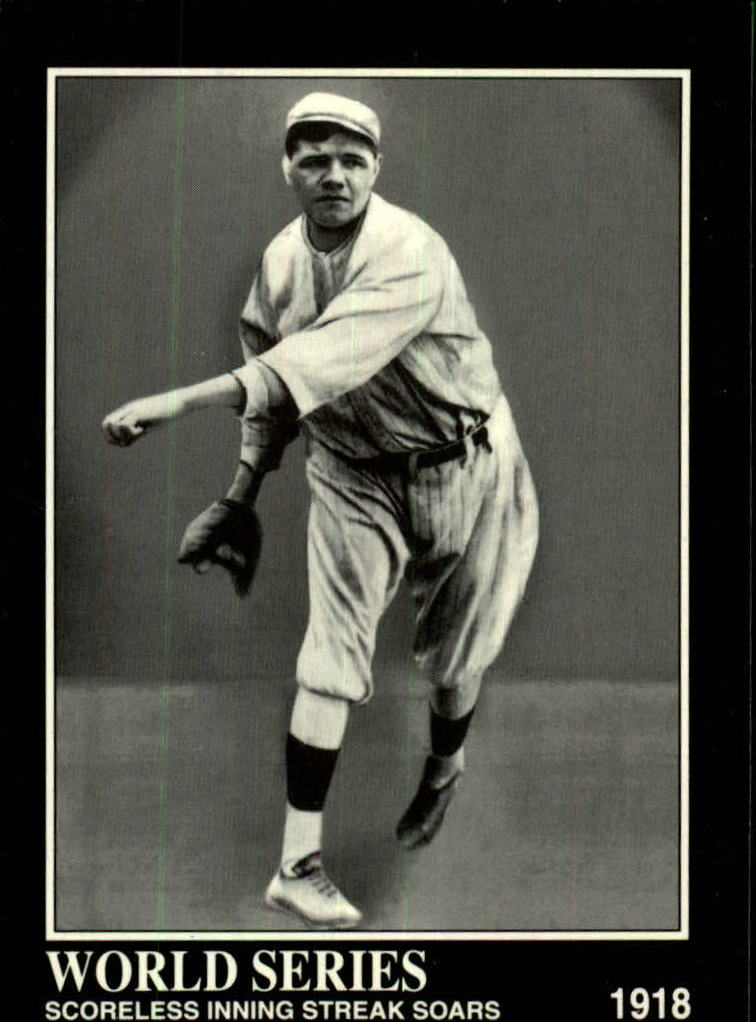 1992 Megacards Ruth #32 Scoreless Inning/Streak Soars 1918