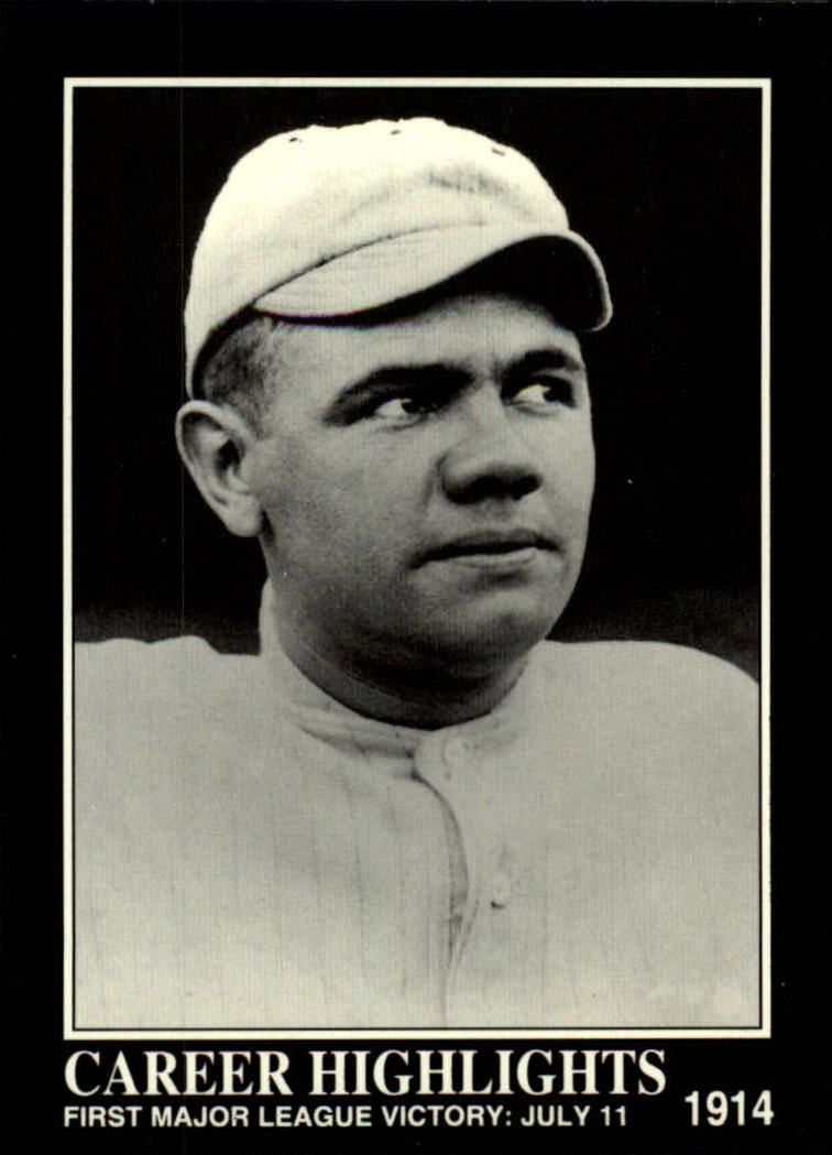 1992 Megacards Ruth #71 First Major League/Victory: July 11, 1914