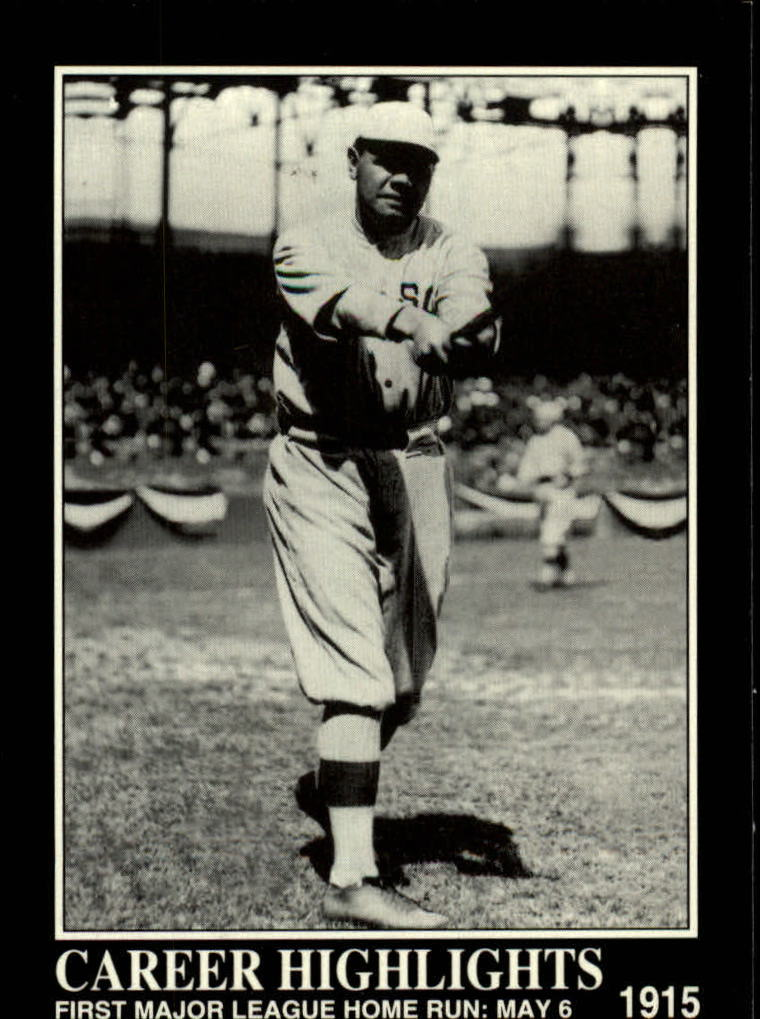 1992 Megacards Ruth #72 First Major League/Home Run: May 6, 1915