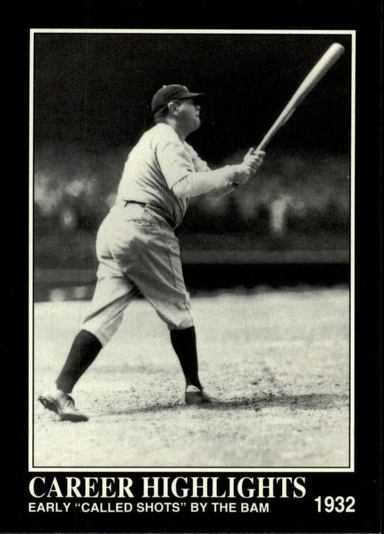 1992 Megacards Ruth #84 Early Called Shots/by The Bambino 1932