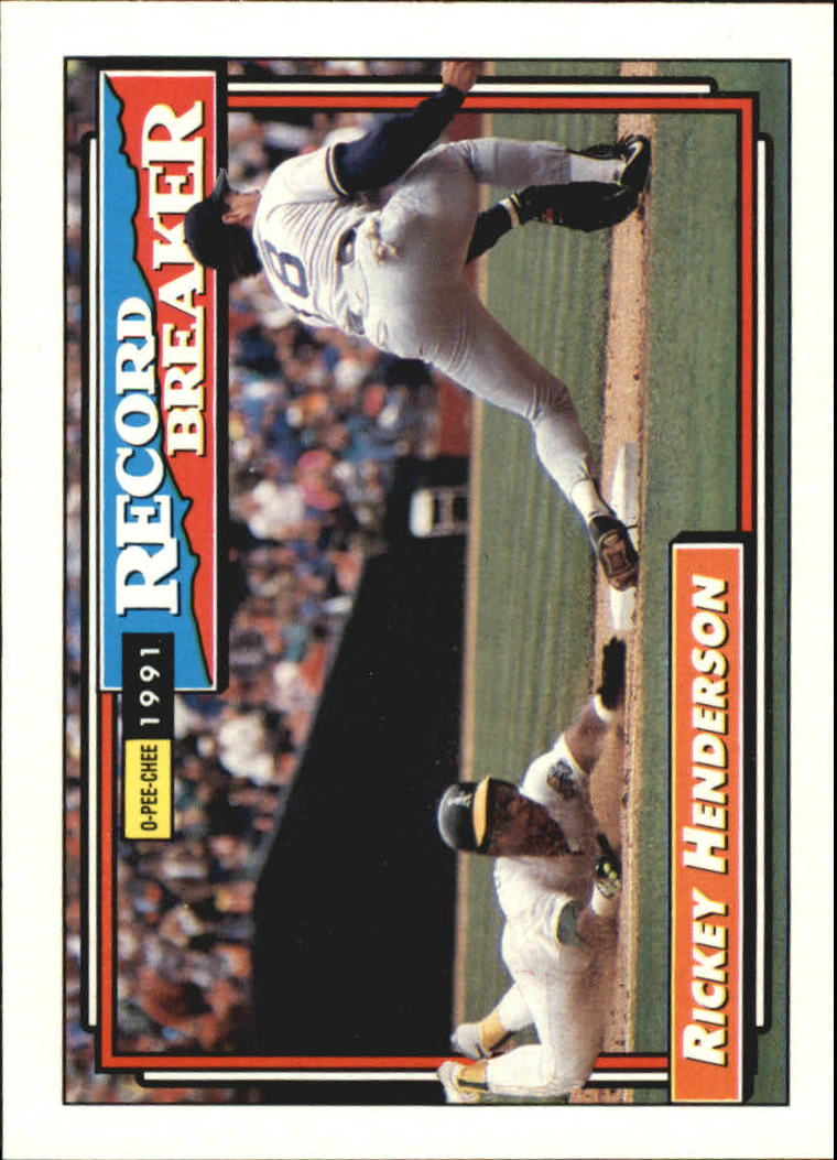 1992 O-Pee-Chee #2 Rickey Henderson RB/(Some cards have print/marks