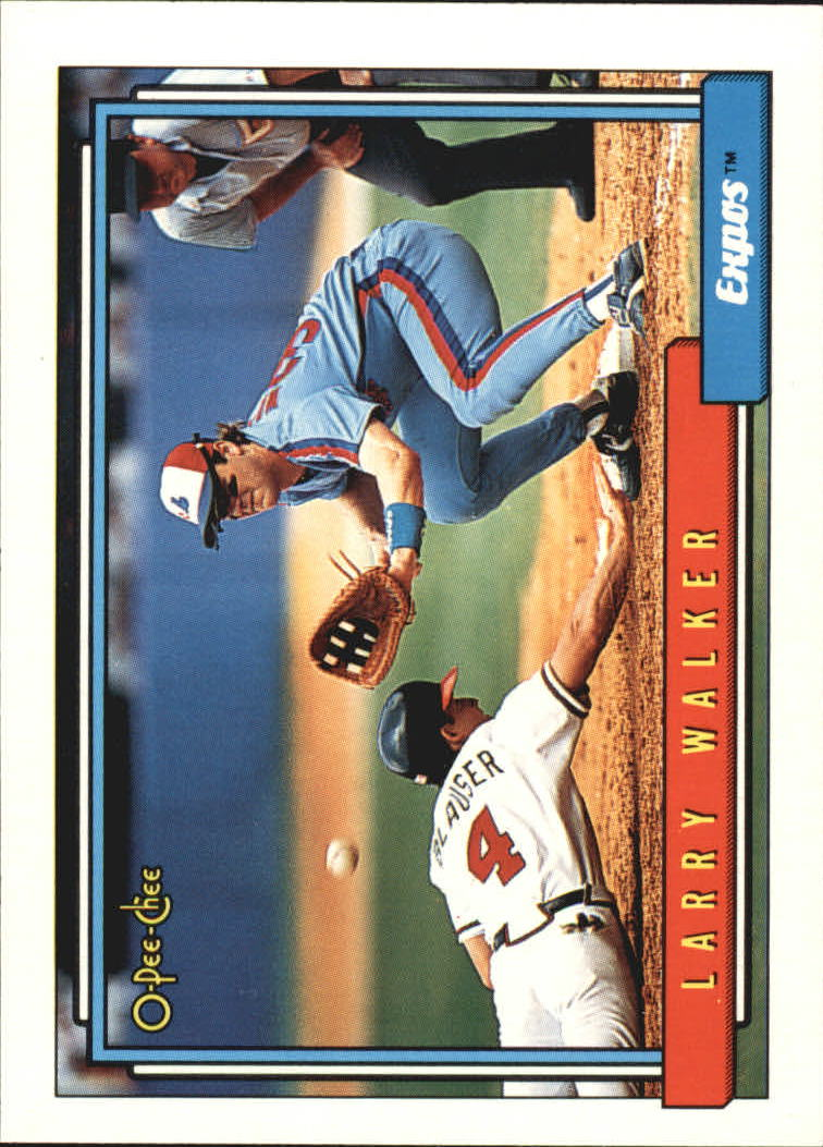 1992 O-Pee-Chee #531 Larry Walker