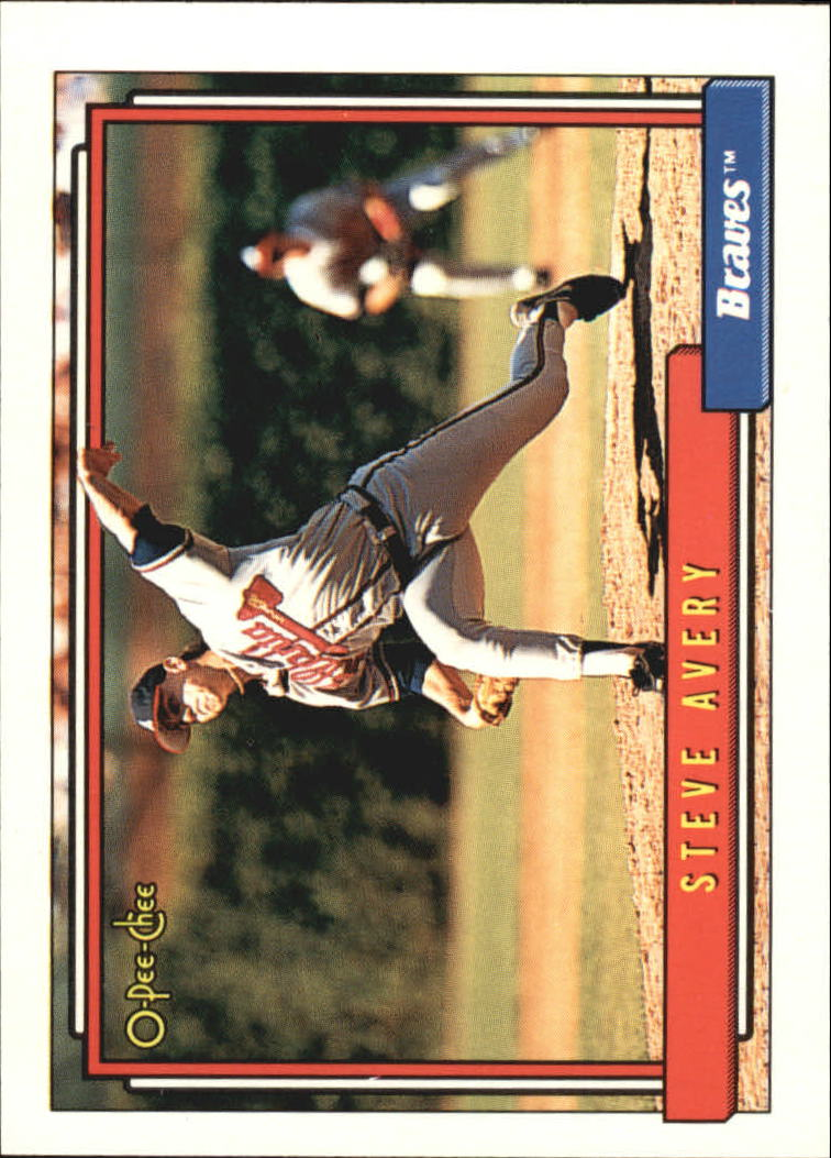 1992 O-Pee-Chee #574 Steve Avery UER/(Should be 13 games/for Durham i