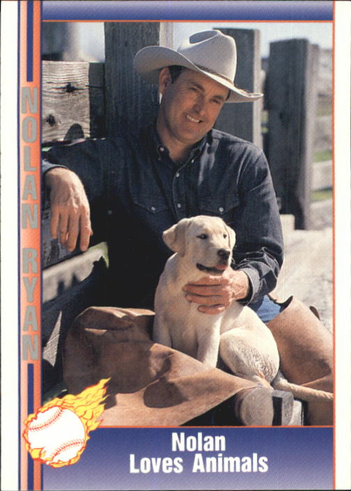 1992 Pacific Ryan Texas Express II #120 Nolan Ryan/Loves Animals