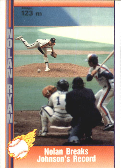 1992 Pacific Ryan Texas Express II #148 Nolan Ryan/Breaks Walter Johnson's Record