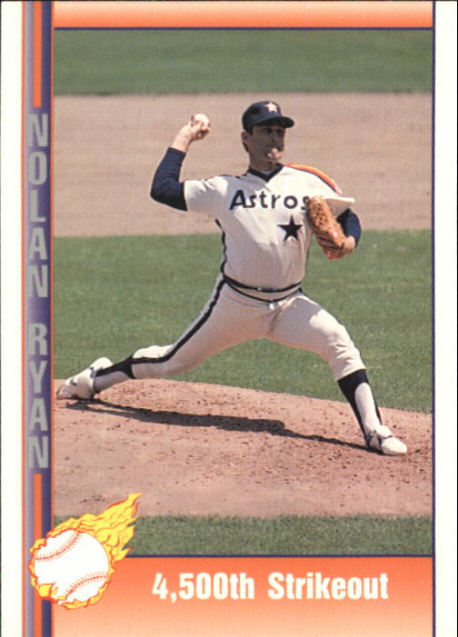 1992 Pacific Ryan Texas Express II #155 Nolan Ryan/4,500th Strikeout