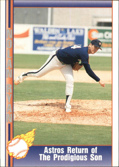1992 Pacific Ryan Texas Express II #163 Nolan Ryan/Astros Return of/The Prodigious Son