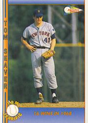 1992 Pacific Seaver #12 Tom Seaver/16 Wins in 1968