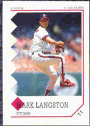 1992 Panini Stickers #11 Mark Langston