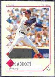 1992 Panini Stickers #12 Jim Abbott