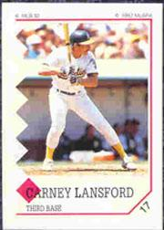 1992 Panini Stickers #17 Carney Lansford