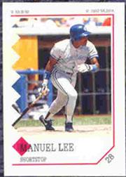1992 Panini Stickers #28 Manuel Lee