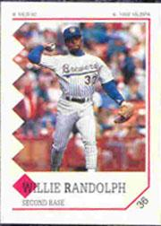 1992 Panini Stickers #36 Willie Randolph